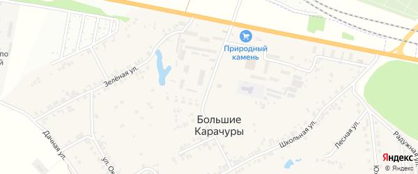 Полевая улица на карте деревни Большие Карачуры с номерами домов
