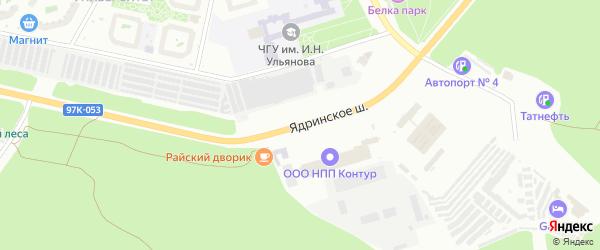 Ядринское шоссе на карте Чебоксар с номерами домов