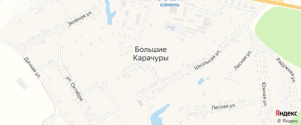 Дачная улица на карте деревни Большие Карачуры с номерами домов