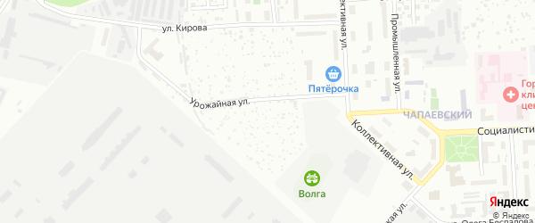 Территория сдт Виктория-4 на карте Чебоксар с номерами домов