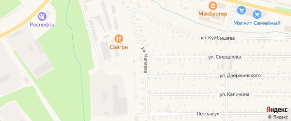 Улица Чапаева на карте Коряжмы с номерами домов