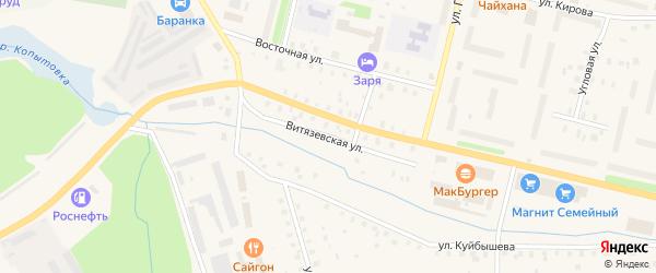 Витязевская улица на карте Коряжмы с номерами домов