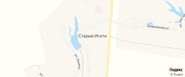 Улица Ленина на карте деревни Старые Игити с номерами домов