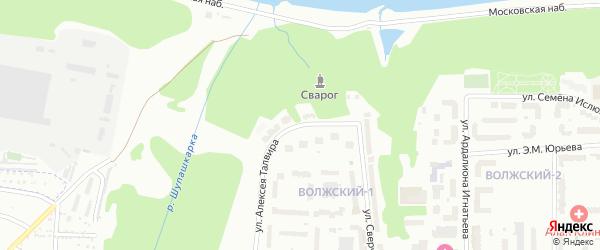 Улица Алексея Талвира на карте Чебоксар с номерами домов