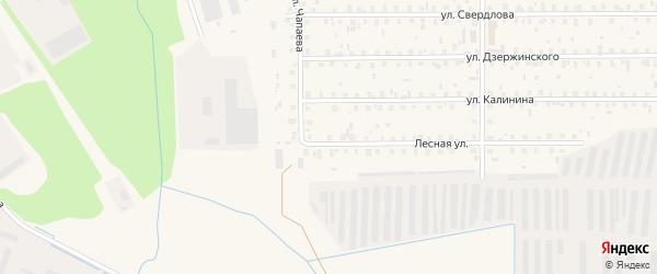 Лесная улица на карте садового некоммерческого товарищества Строителя сада N1 с номерами домов