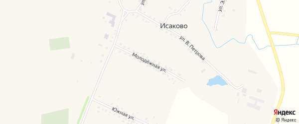 Молодежная улица на карте села Исаково с номерами домов