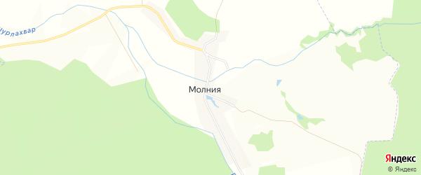 Карта поселка Молнии в Чувашии с улицами и номерами домов