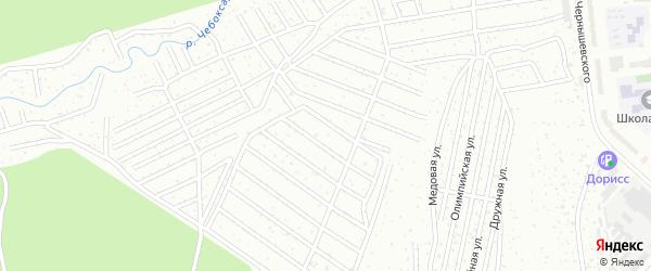 Территория сдт Волга (Кирова) на карте Чебоксар с номерами домов