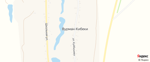 Молодежная улица на карте деревни Вурмана-Кибеки с номерами домов