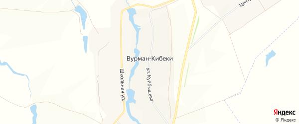 Карта деревни Вурмана-Кибеки в Чувашии с улицами и номерами домов