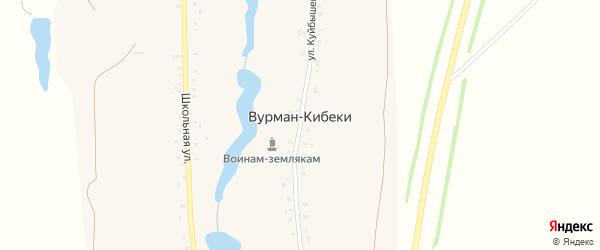 Школьная улица на карте деревни Вурмана-Кибеки с номерами домов