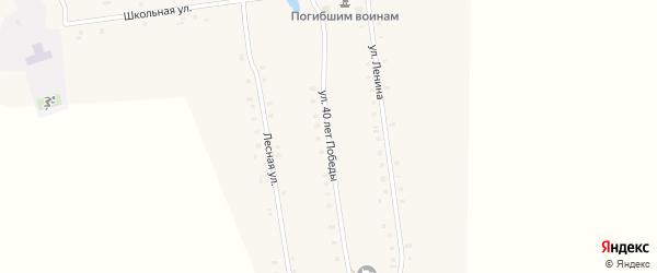 Улица 40 лет Победы на карте деревни Чувашские Тимяши с номерами домов