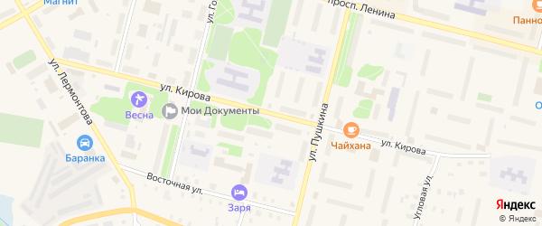 Улица Кирова на карте Коряжмы с номерами домов
