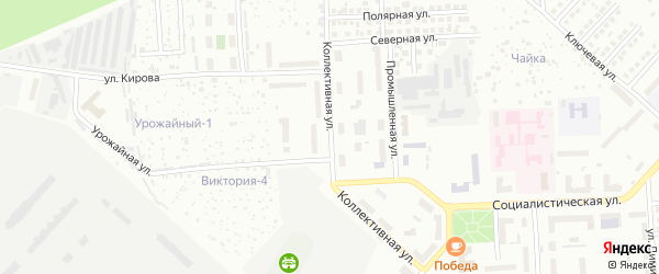 Коллективная улица на карте Чебоксар с номерами домов