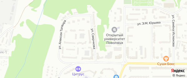 Улица Н.Сверчкова на карте Чебоксар с номерами домов