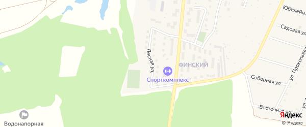 Лесная улица на карте Красноармейского села с номерами домов