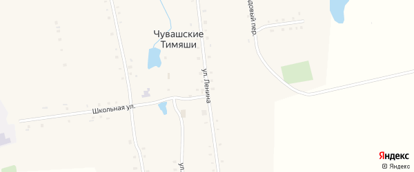 Улица Ленина на карте деревни Чувашские Тимяши с номерами домов