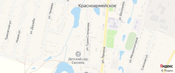 Улица Г.Степанова на карте Красноармейского села с номерами домов