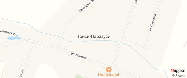 Лесная улица на карте деревни Тойси-Паразуси с номерами домов