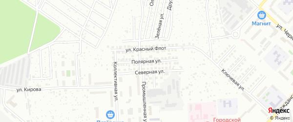 Полярная улица на карте Чебоксар с номерами домов