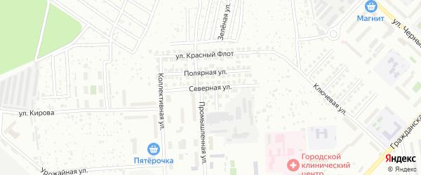 Северная улица на карте Чебоксар с номерами домов