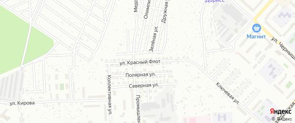 Улица Красный Флот на карте Чебоксар с номерами домов