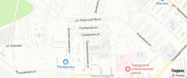 Улица Победы на карте Чебоксар с номерами домов