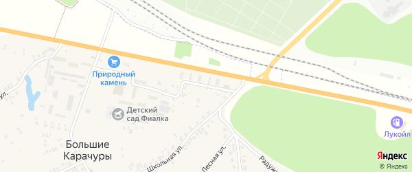 Улица 9 км на карте деревни Большие Карачуры с номерами домов