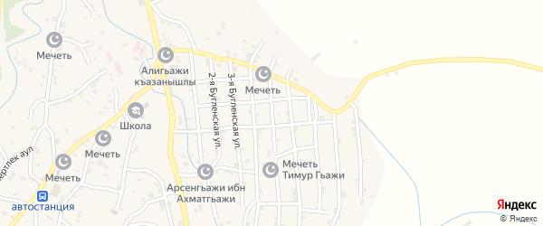 Бугленская улица на карте села Нижнего Казанища с номерами домов