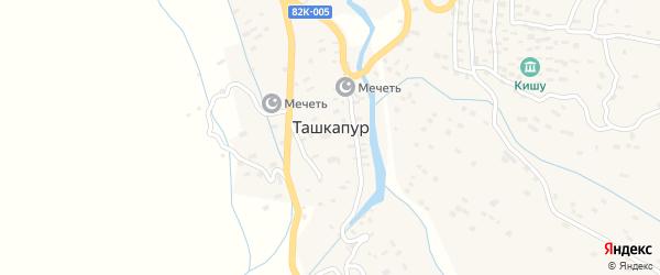 Школьная улица на карте села Ташкапура с номерами домов
