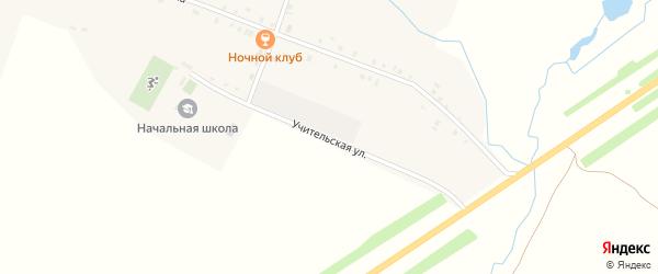 Учительская улица на карте деревни Тойси-Паразуси с номерами домов