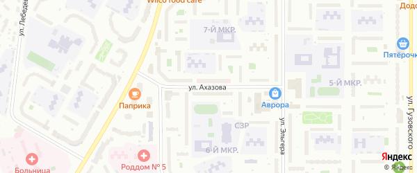 Улица Ахазова на карте Чебоксар с номерами домов