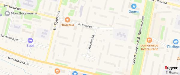 Угловая улица на карте садового некоммерческого товарищества Садоводы Севера сад N2 с номерами домов