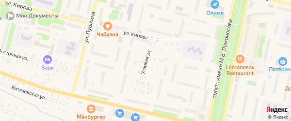 Угловая улица на карте Коряжмы с номерами домов