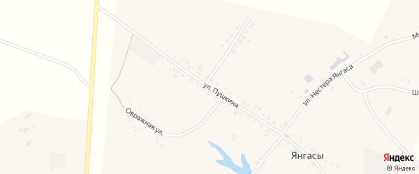 Улица Пушкина на карте деревни Хлеси с номерами домов