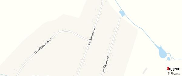 Улица Энгельса на карте деревни Тойси-Паразуси с номерами домов