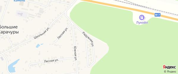 Радужная улица на карте деревни Большие Карачуры с номерами домов