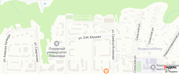 Улица Э.М.Юрьева на карте Чебоксар с номерами домов