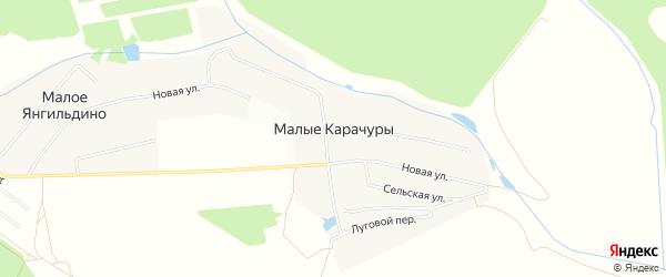 Карта деревни Малые Карачуры в Чувашии с улицами и номерами домов
