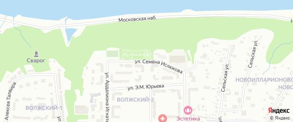 Улица Семена Ислюкова на карте Чебоксар с номерами домов