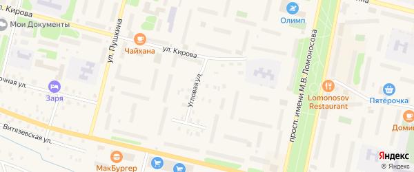 Угловая улица на карте садового некоммерческого товарищества Строителя сада N1 с номерами домов