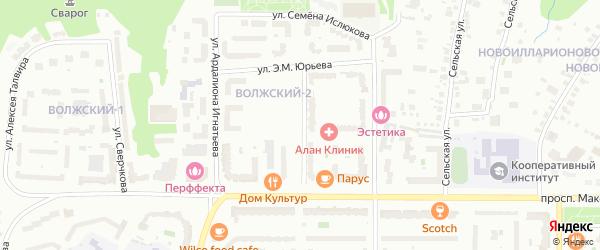 Бульвар Мефодия Денисова на карте Чебоксар с номерами домов