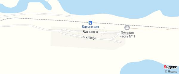 Нижняя улица на карте поселка Басинска с номерами домов