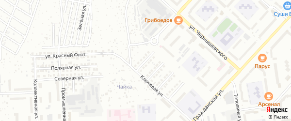 Улица Дежнева на карте Чебоксар с номерами домов