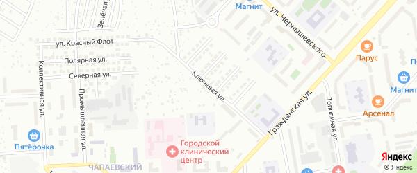 Ключевая улица на карте Чебоксар с номерами домов