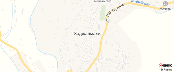 Улица Н.О.Османова на карте села Хаджалмахи с номерами домов