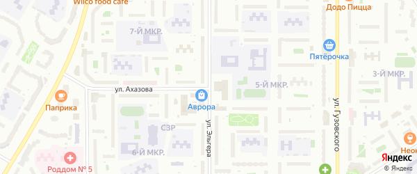 Улица Эльгера на карте Чебоксар с номерами домов
