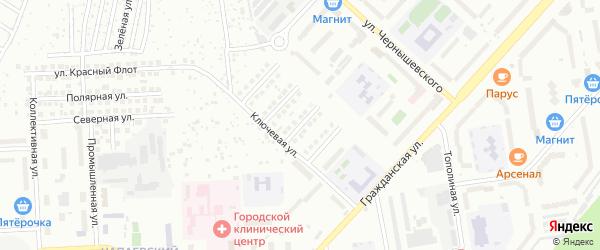 Юбилейная улица на карте Чебоксар с номерами домов