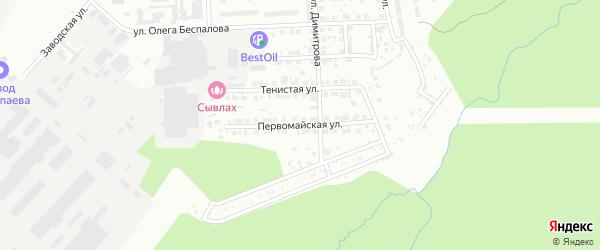 Первомайская улица на карте Чебоксар с номерами домов