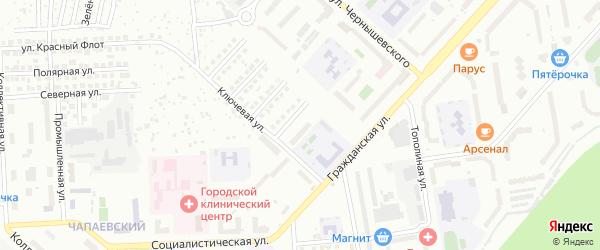 Школьная улица на карте Чебоксар с номерами домов